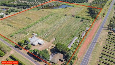 CLOSE TO 20 ACRES HOBBY FARM WITH BRICK HOME AND APPROX. 500M2 SHED!