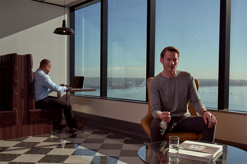 Enjoy amazing views from your 6-person collaborative workspace