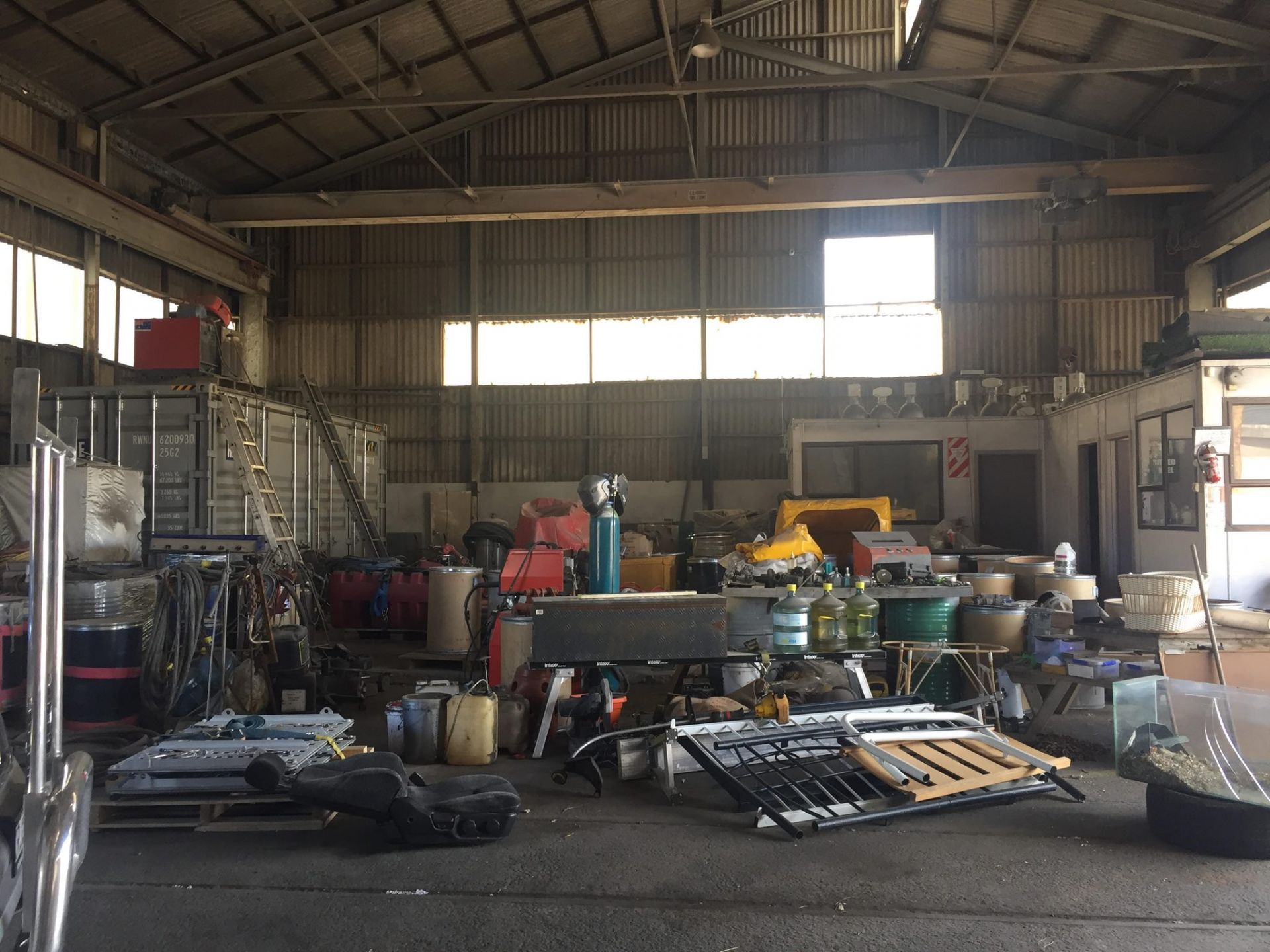 Warehouse with large yard