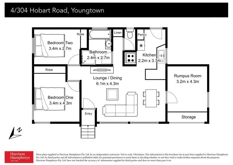 304 Hobart Road Floorplan