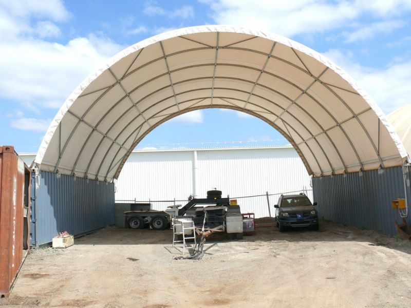 900m2* Hardstand With Dome Shelter