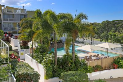 North facing, sunny balcony, tropical resort