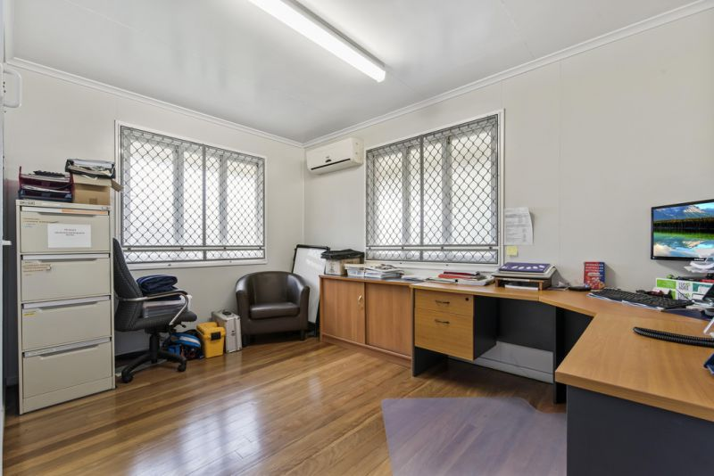 Office with yard