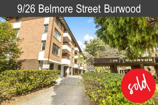 Buyer of 9/26 Belmore Street Burwood