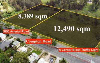 Lot 22, Lot 19 - Two Flat and Large Lands on Compton Road (SEQ Arterial Road), 200M Frontage, and a Corner Traffic Light