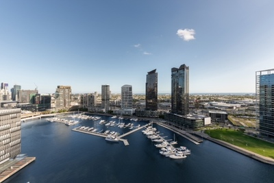 Luxury Water View Living with three bedrooms and two balconies