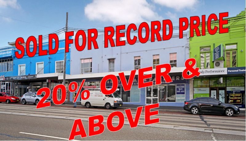 SOLD AT RECORD PRICE!
