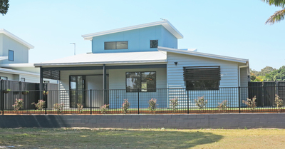 New home in parkside setting with wheelchair accessability