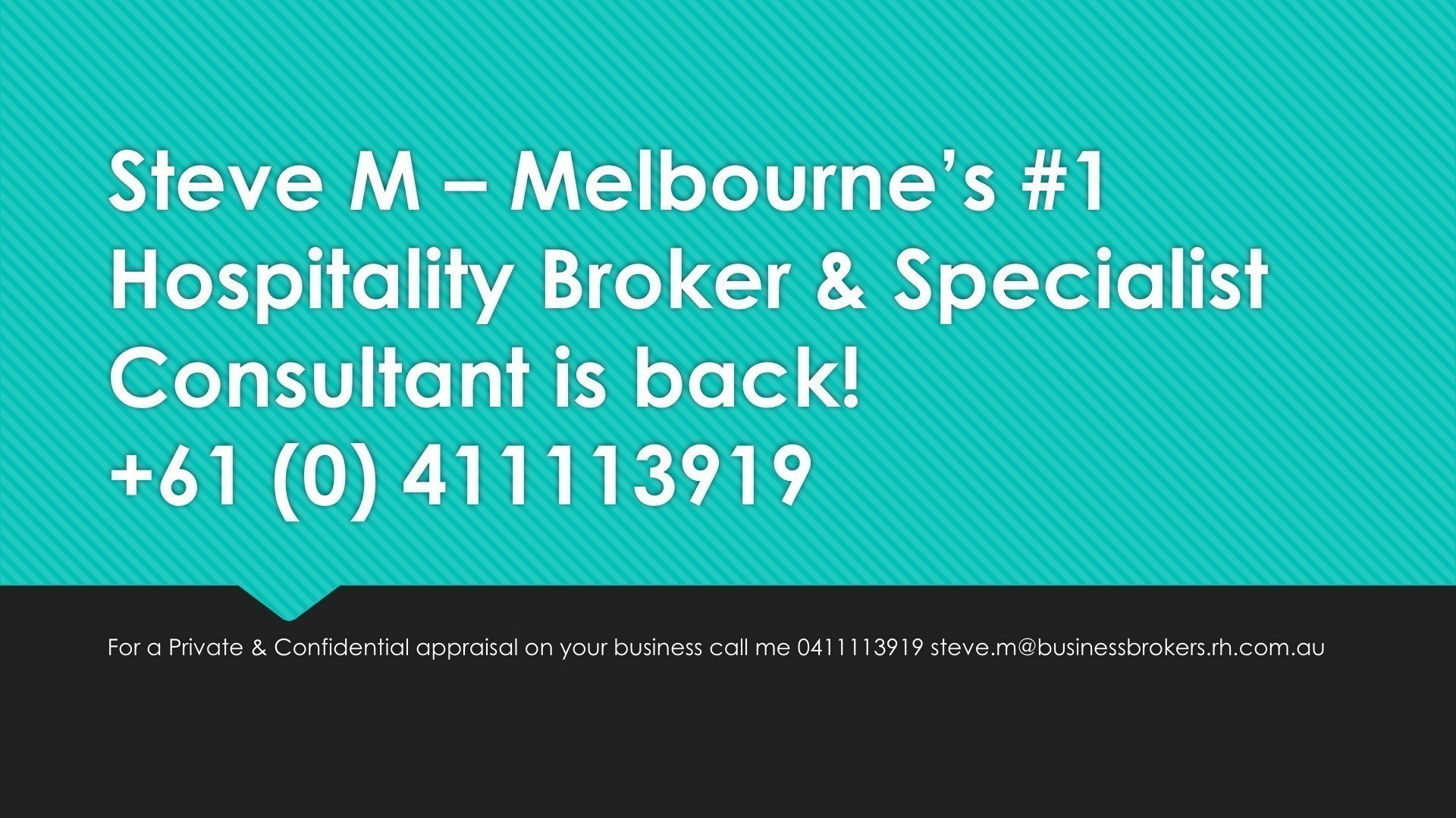 Melbourne's #1 Hospitality and Business Broker with over 25 years of experience.