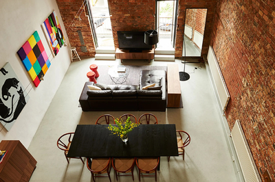Spectacular furnished warehouse terrace