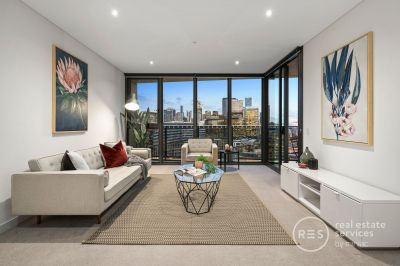 The epitome of sleek, stylish, and bright Yarra's Edge living