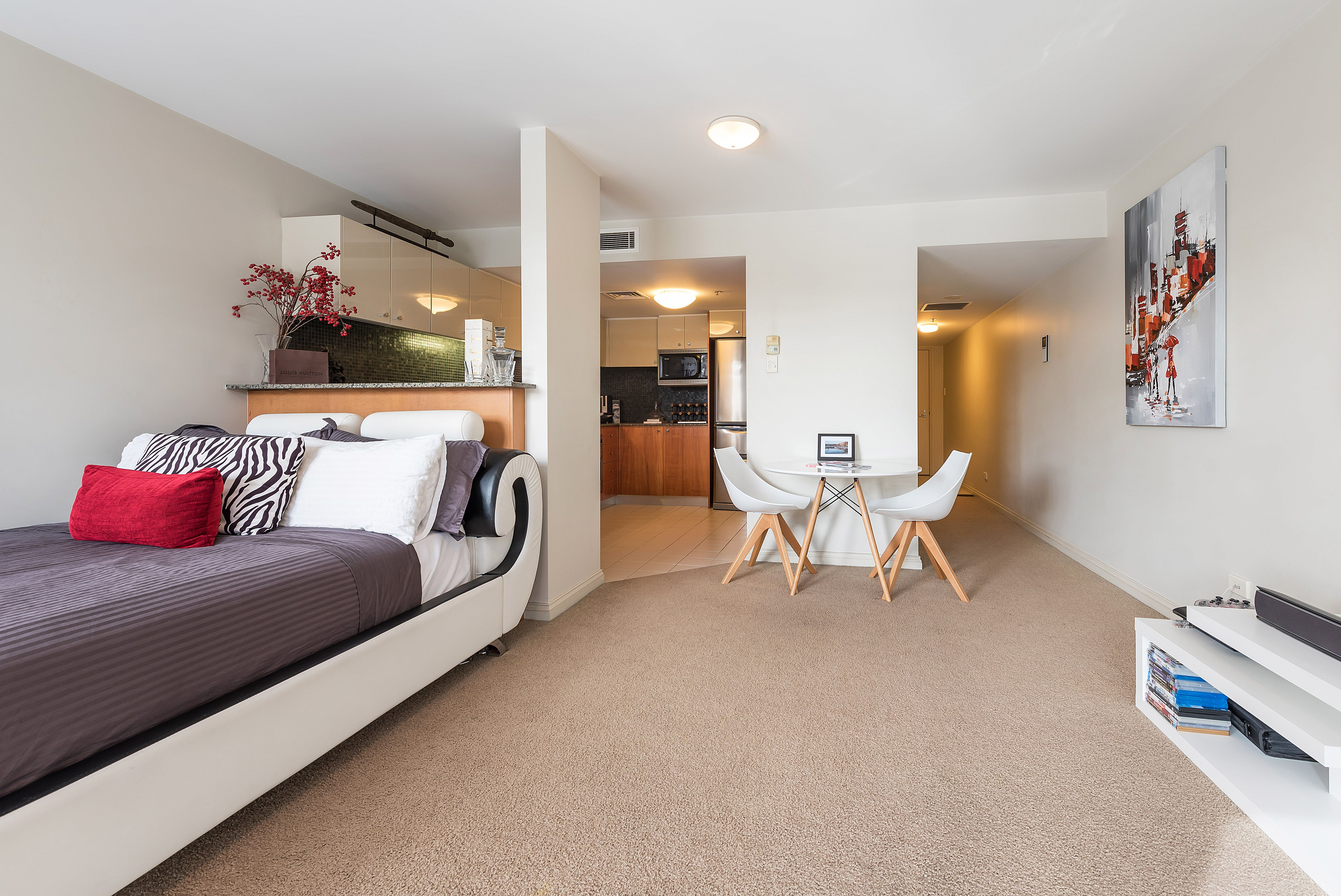 Fully Furnished studio short or long term lease available.