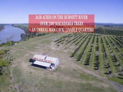 MACADAMIA FARM ON 34 ACRES ON THE BURNETT RIVER – FLOOD FREE!
