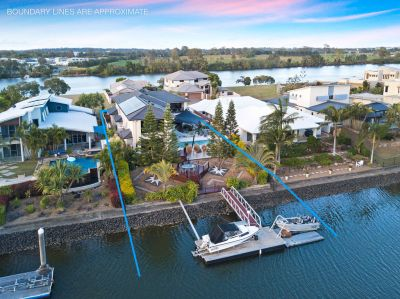 Spectacular Entertaining Space, Easy Waterfront Living on Large Block