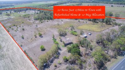 20 ACRES FULLY FENCED WITH SOLID BRICK HOME, SHEDS, BORE/10 MEGS….BE QUICK!
