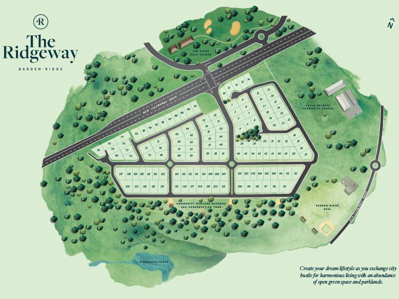 Barden Ridge Lot 58 Proposed Road