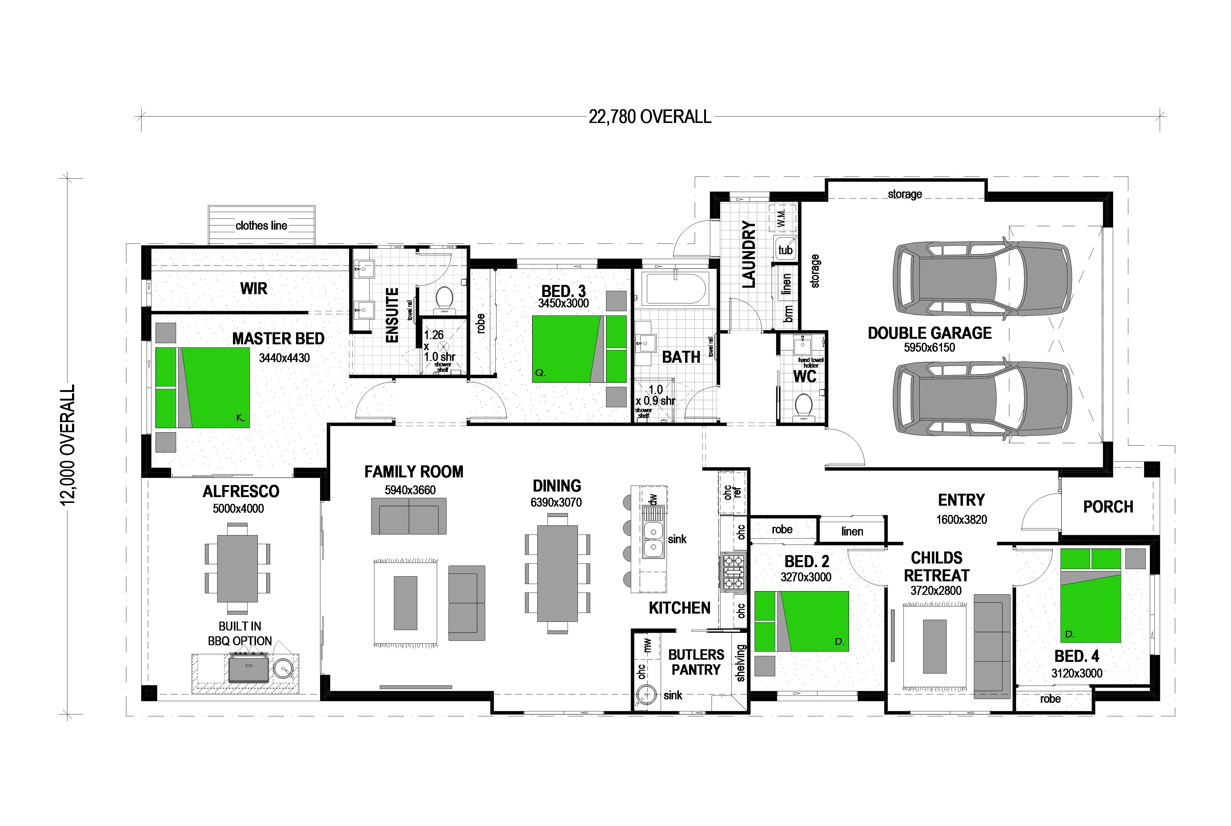 LOT 117 MYRL STREET, THE OUTLOOK CALALA Floorplan