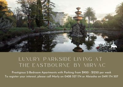 Premium Bespoke 2 Bedroom Apartments in 'The Eastbourne' by Mirvac