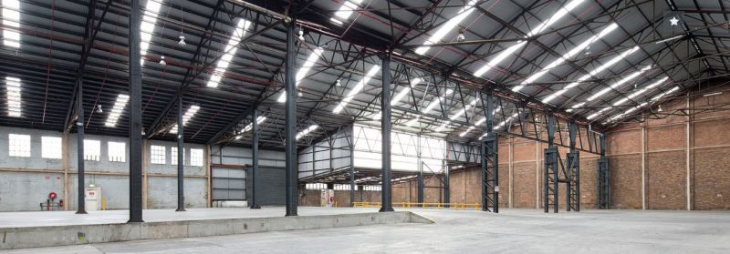 High clearance clear span warehousing.