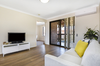 Fully renovated three-bedroom villa. Light and bright boasting a brand new kitchen, flooring, paint and more. Move in with nothing to do!