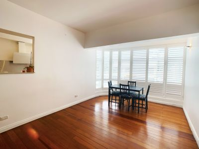 Big two bed apt,  polished wooden floorboards throughout with recently updated kitchen and bathroom