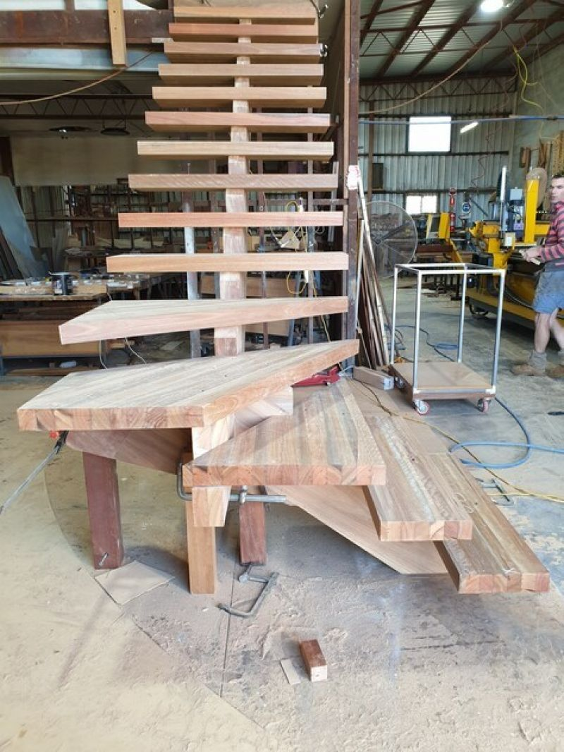 Timber Staircase Factory pre - cuting and flat packing  for over 30 years