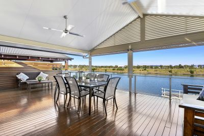 Prestigious Waterfront Entertainer. 18.3m of Water frontage.