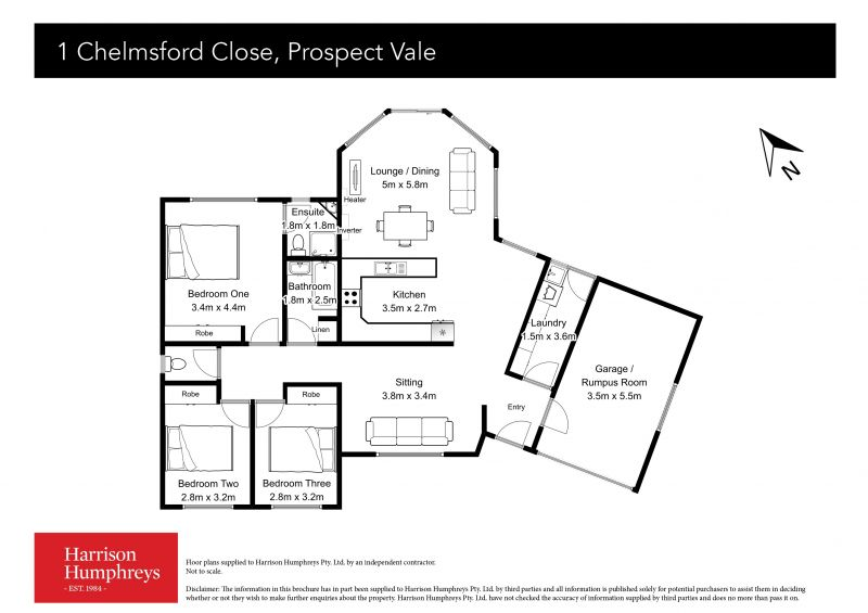 1 Chelmsford Close Floorplan