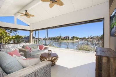 Furnished waterfront home in prime Mermaid Waters Locale