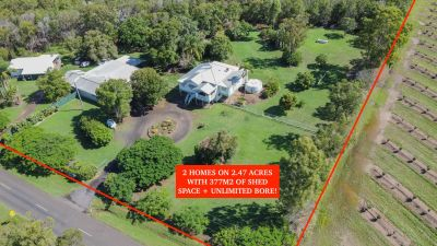 PRIME CITY FRINGE ACREAGE WITH 2 HOMES ON 2.47 ACRES WITH 377M2 OF SHED SPACE!