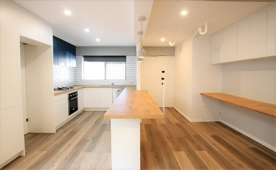 Fully Renovated Extra Large Contemporary Apartment - Entry Via Driveway at 18 Evans Avenue.