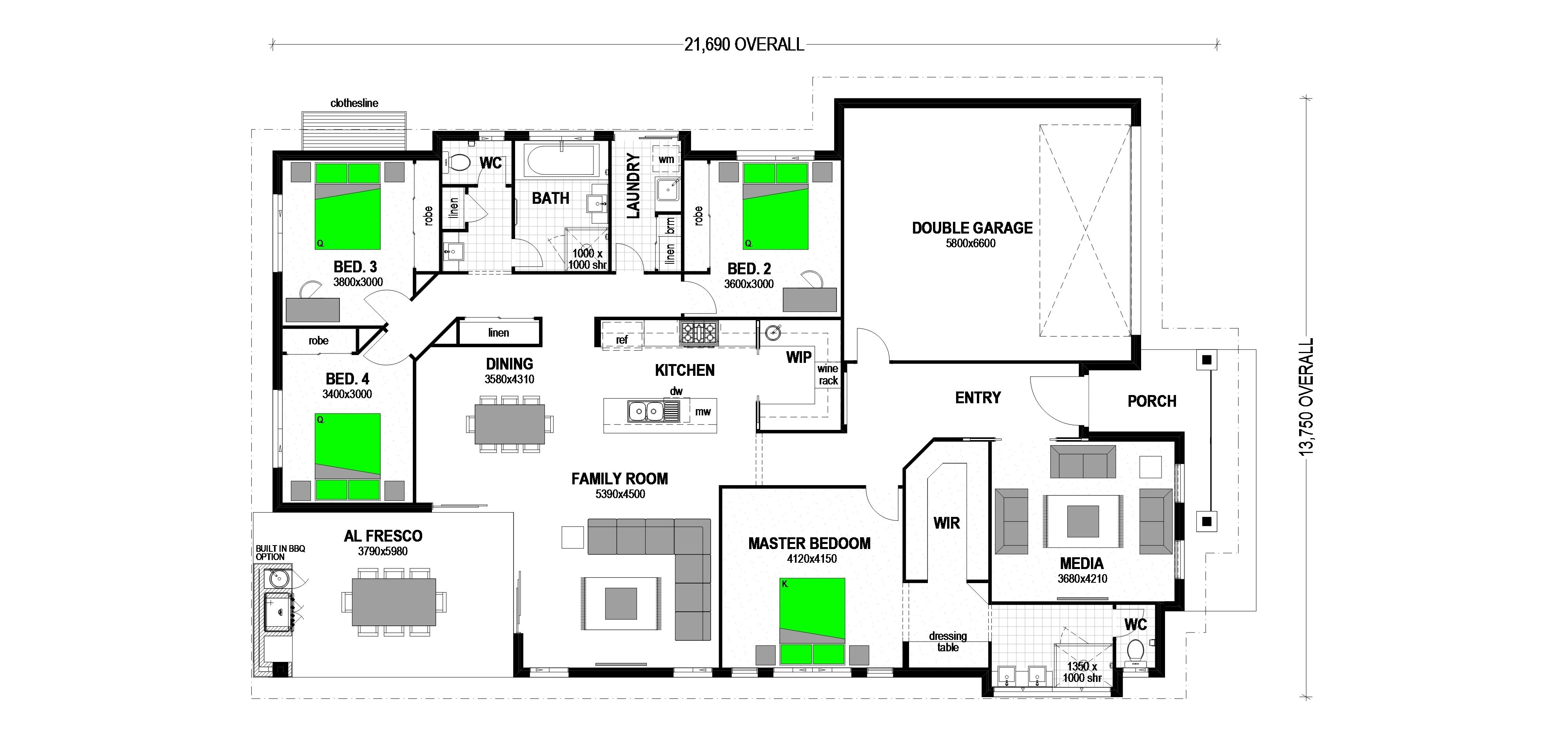 SPRING ESTATE LOT 83 HEROIC STREET DROUIN Floorplan