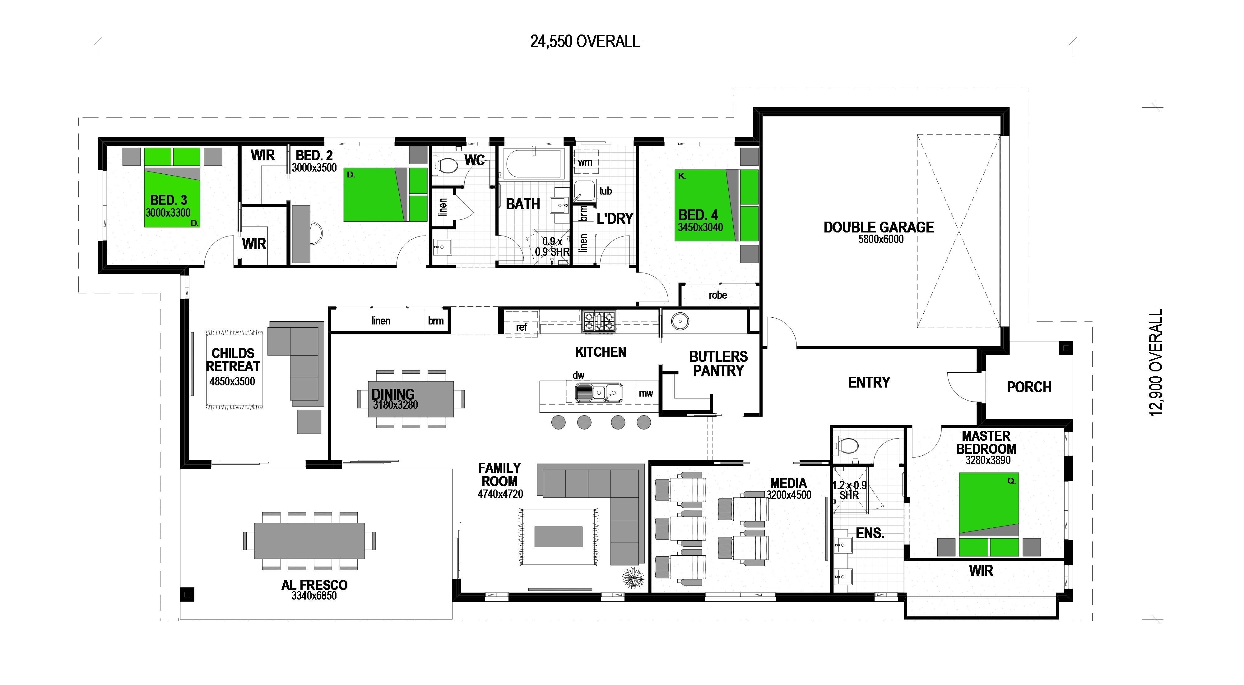 LOT 12 SUNDOWNERS COURT UPPER CABOOLTURE Floorplan