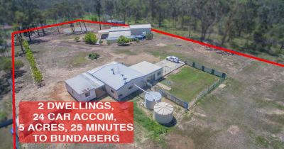 4 BEDROOM PROPERTY WITH HUGE SHED ON 5 ACRES 25 MINUTES TO THE BUNDABERG CBD