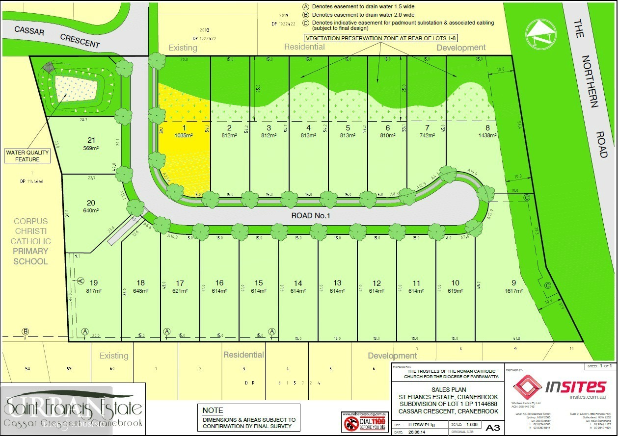 Cranebrook Lot 1 Saint Francis Estate