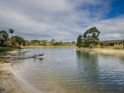 Waterfront opportunity, hot location with pool