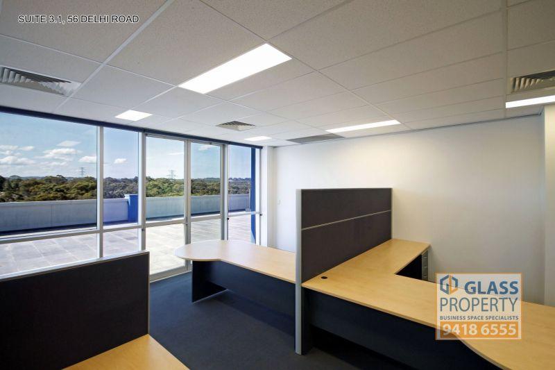 Stunning Top Floor Office with 105m2 Terrace Overlooking Bushland