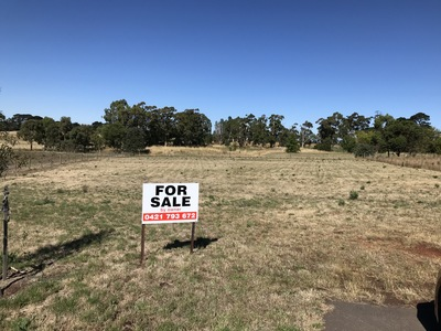 Large block with beautiful country views