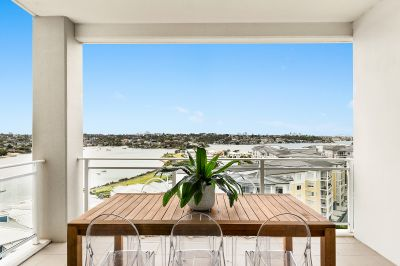 Extremely Rare and Prestigious North facing, two bedroom plus study apartment with outstanding water and city skyline views