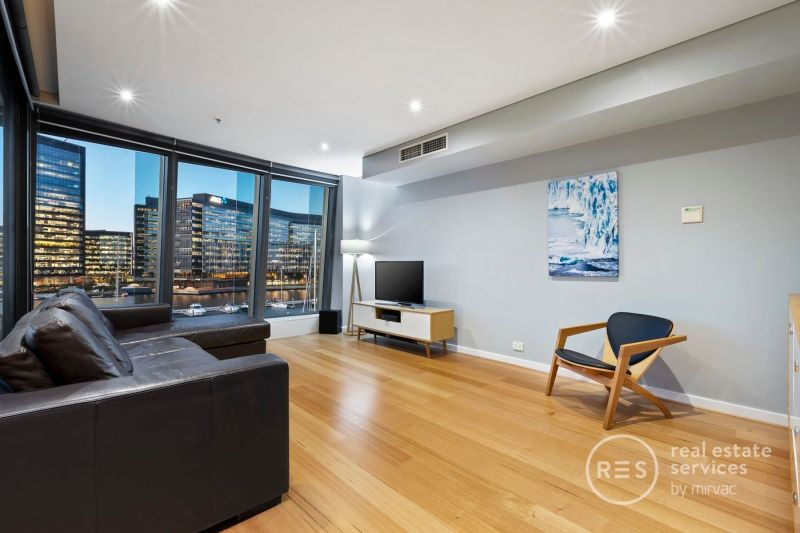 Waterside excellence on this 5th floor podium apartment