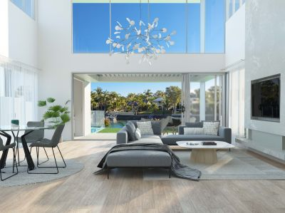 NEW LUXURY WATERFRONT HOMES WITH COASTAL INFLUENCES
