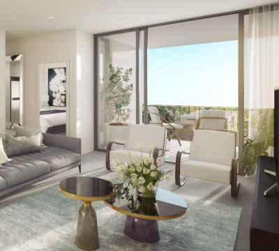 North Facing Designer One Bedroom Apartment with Balcony