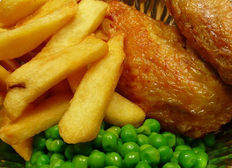 Chicken and Chips. The Best of Commercial Kitchens..
