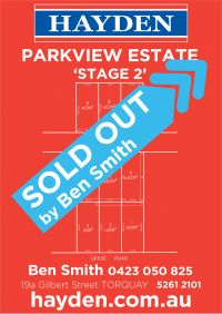 SOLD OUT! Parkview Estate Stage 2