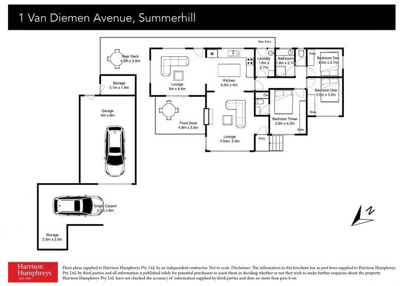 1 Van Diemen Avenue Floorplan