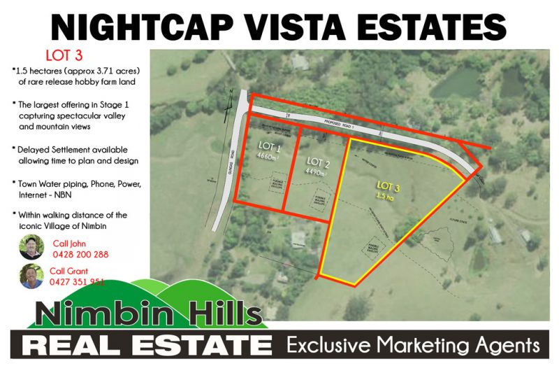 NEW NIMBIN DEVELOPMENT Lot 3 (Stage 1)