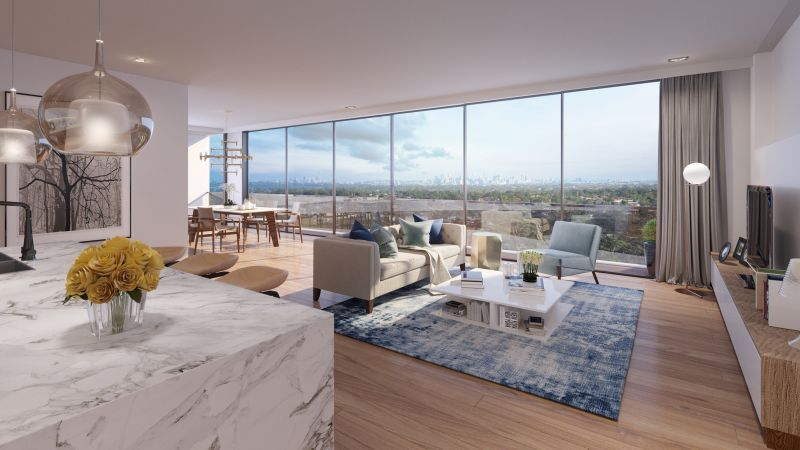 Large 2 bedroom residence with panoramic views in Epping Town Centre's Most Exclusive New Boutique Residential Tower - 'JARDINE'.
