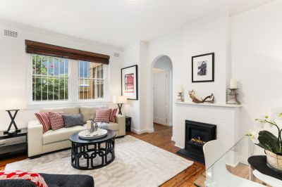 Offering a tranquil atmosphere, this stylish Art Deco apartment is set within a boutique block in Woollahra