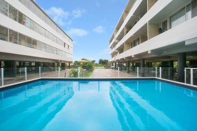 Rare 2 bedroom unit located right opposite the beach!