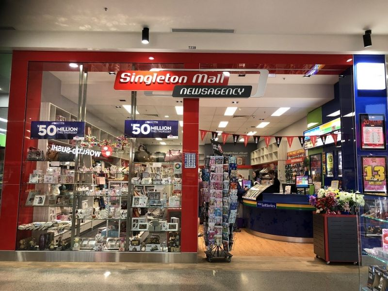 NEWS AGENCY IN LARGE SHOPPING CENTRE
